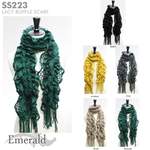 SS223 Lacy ruffle scarf