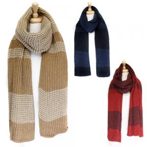 SS2405 Unisex Stripe Long Knit Scarf