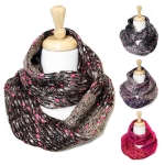 SS2417 Pink & Silver Poin Ombre Knit Infinity