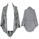 SP2425 B&W Stripe Wrap Cardigan