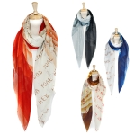 SS2429 Letter Print Scarf