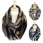 SS2431 Tiger Pattern Faux Fur Infinity