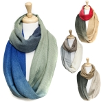 SS2462 Soft Gradation Infinity Winter Scarf