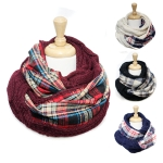 SS2463 Cable&Plaid Reversible Infinity