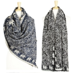 SS2471 Heavy Cashmere FEel Elephant Scarf