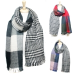 SS2472 Double Side Tartan Check Heavy Scarf