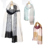 SS2475 Check Block Pattern Heavy Scarf