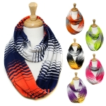 SS2486 College Team Color Jersey Infinity Scarf