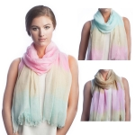 SS2505 Tree color tone tie dye scarf