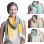 SS2507 Multi Brush Stroke Cotton Scarf