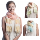 SS2509 Scrunch Stripe Pattern Scarf