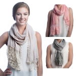 SS2513 Cotton Lace Scarf