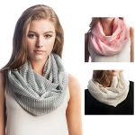 SS2551 COTTON STRIPE INFINITY SCARF