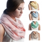 SS2553 Check White Dot Point Infinity Scarf