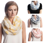 SS2555 COTTON POLKA DOT INFINITY SCARF