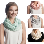 SS2556 Cotton Lace Infinity Scarf