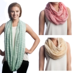 SS2557 Check Pattern Lace Infinity Scarf