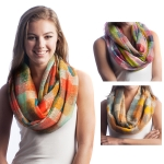 SS2560 Check Pattern Infinity Scarf