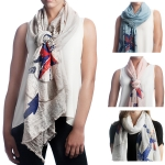 SS2561 ANCHOR & COMPASS COTTON SCARF