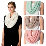 SS2563 Fine Textured Fabric Infinity Scarf