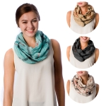 SS2592 Check Crinkled Pattern Infinity Scarf