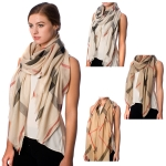 SS2593 PLAID PATTERN SHIMMERING SCARF