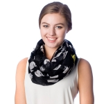 SS2596 Cat Pattern Infinity Scarf