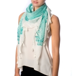 SS2597 Paisley Pattern Square Scarf With Tassel