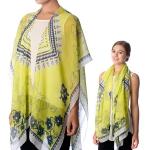 SS2598 Abstract Pattern Cape/Kimono Poncho