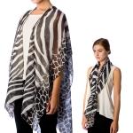 SS2599 Zebra Pattern Cape/Kimono Poncho
