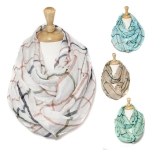 SS2609 Crinkled Plaid Infinity Scarf