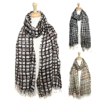 SS2610 Water-colored Line Scarf