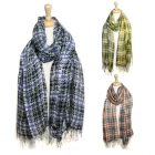 SS2611 Brushed Checker Scarf