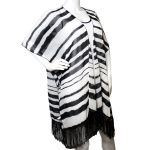 SS2623 STRP SHRUG WITH FRINGE