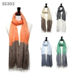 SS303 Two Tone Chevron Scarf