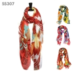 SS307 Color Block Print Scarf