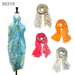 SS310 Chic Floral Print Scarf