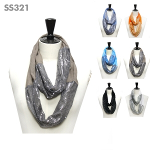 SS321 Sequin Infinity Scarf