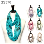 SS370 FLORAL PRINT JERSEY INFINITY SCARF