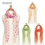 SS4020 Candy Color Heart Scarf
