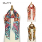 SS4022 Exotic Diamond Print Silk-Touch Scarf