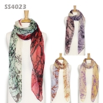 SS4023 Winter Wood Print Scarf