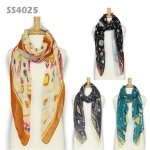 SS4025 ARROW & SHIELD PRINT SCARF