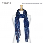 SS4031 Starry Night Print Lightweight Scarf
