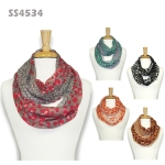 SS4534 Dot Border Animal Print Infinity