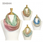 SS4544 Pastel Color Paisley Print Infinity