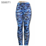 SS8071 Camo Printed Sea Blue Leggings