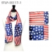 STLP USA Flag Satin Scarf (1DZ)