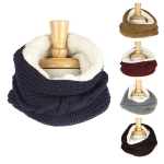 YC003 KNIT NECK WARMER WITH FAUX FUR INFINITY