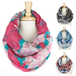 YC041 Floral Infinity Scarf